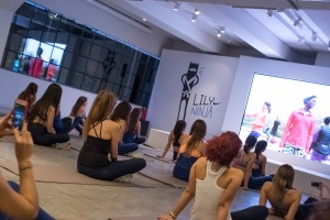 Nike presents Margot vs Lily launch event_projection