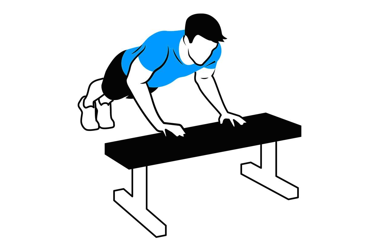 Картинки упражнения на скамейке